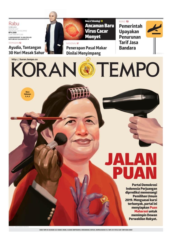 Koran TEMPO Digital Newspaper 15 May 2019