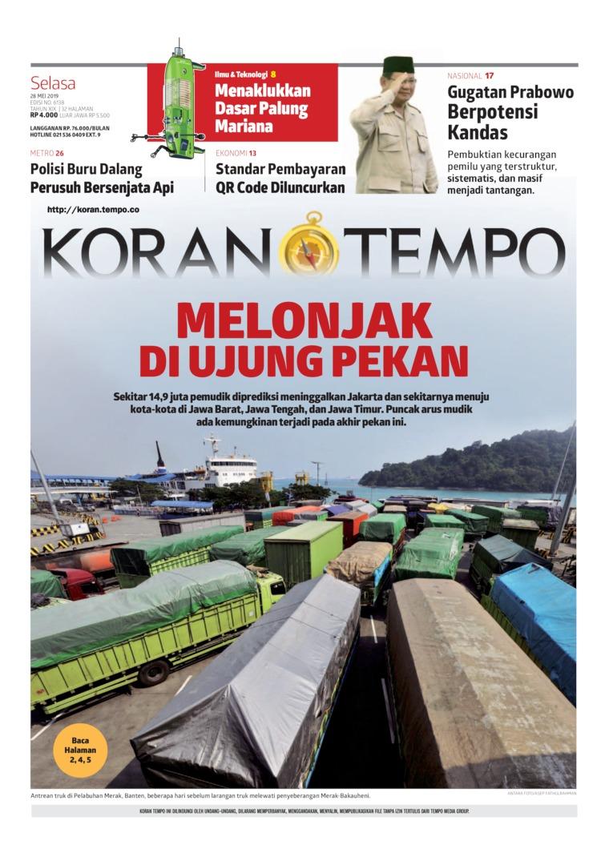 Koran TEMPO Digital Newspaper 28 May 2019