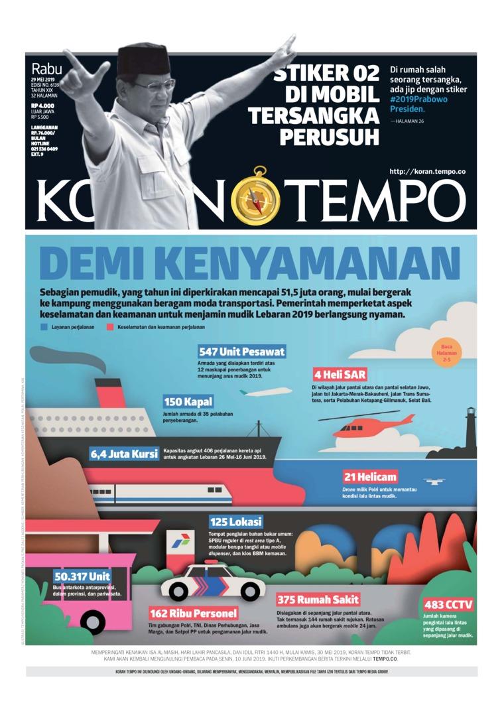 Koran TEMPO Digital Newspaper 29 May 2019
