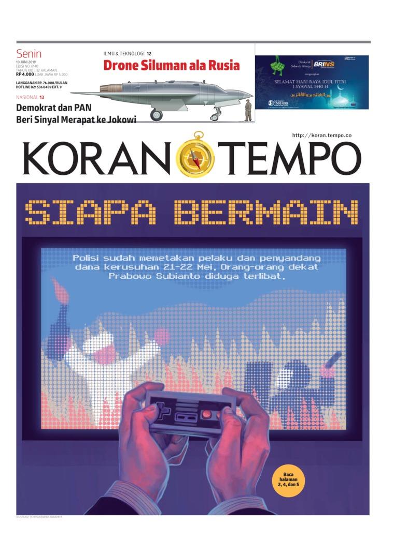 Koran TEMPO Digital Newspaper 10 June 2019
