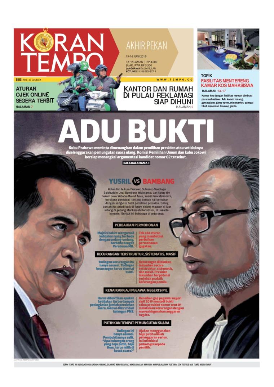 Koran TEMPO Digital Newspaper 15 June 2019