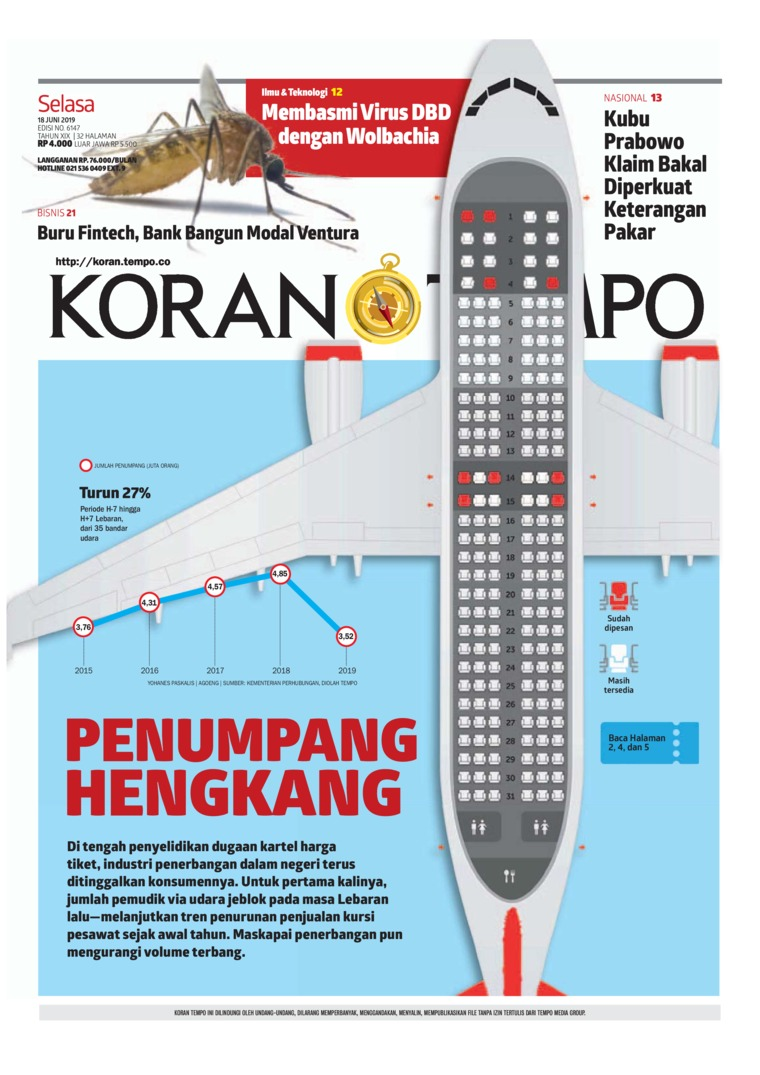 Koran TEMPO Digital Newspaper 18 June 2019