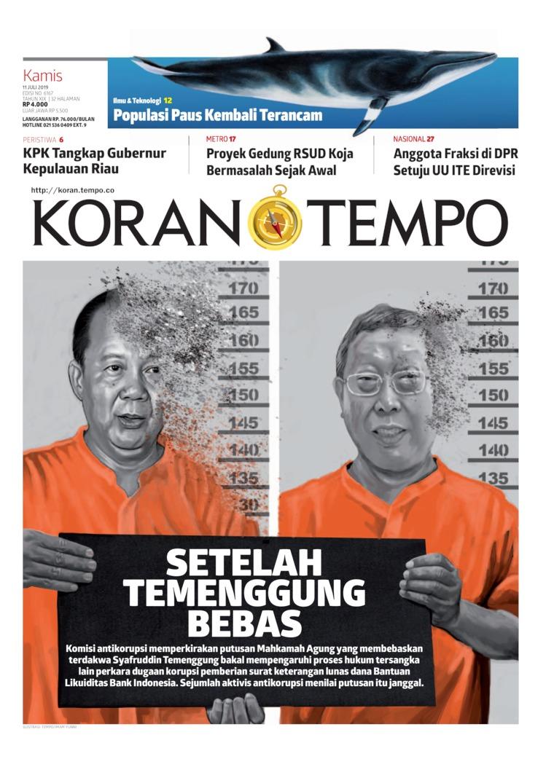 Koran Digital Koran TEMPO 11 Juli 2019
