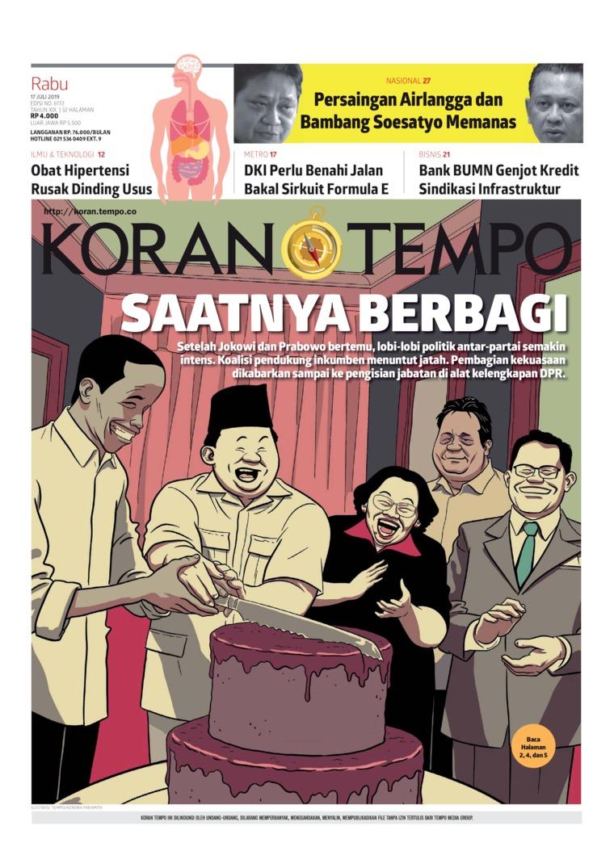 Koran TEMPO Digital Newspaper 17 July 2019