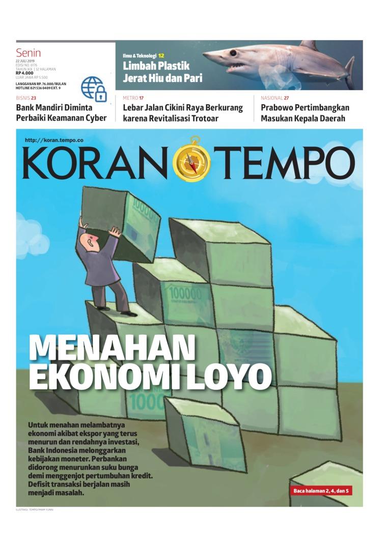 Koran TEMPO Digital Newspaper 22 July 2019