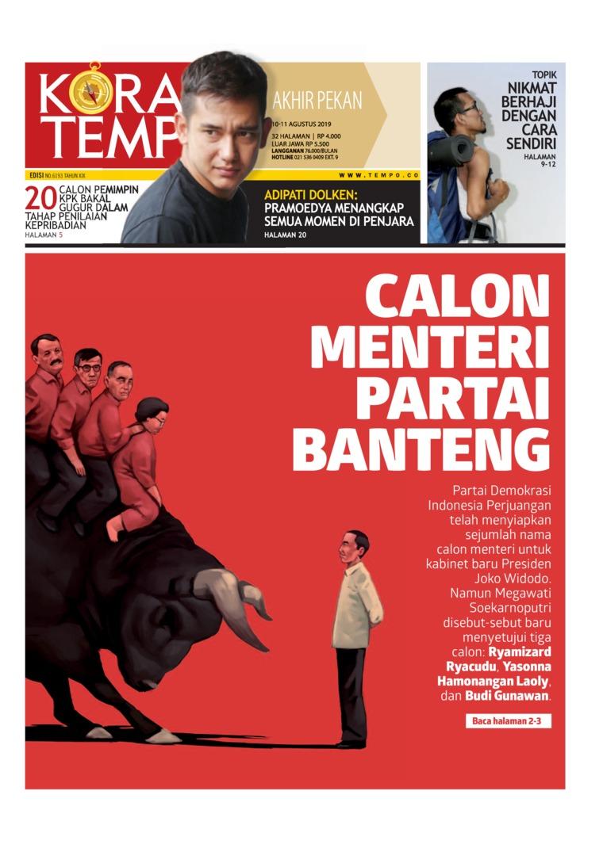 Koran TEMPO Digital Newspaper 10 August 2019