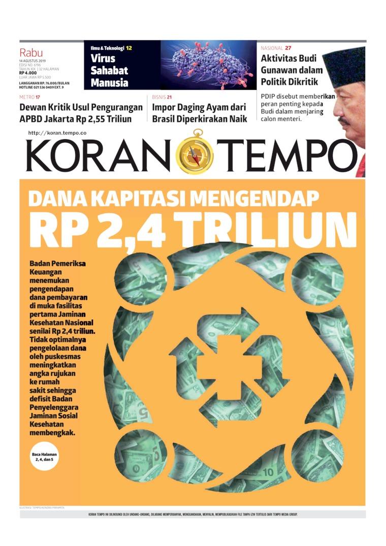 Koran TEMPO Digital Newspaper 14 August 2019