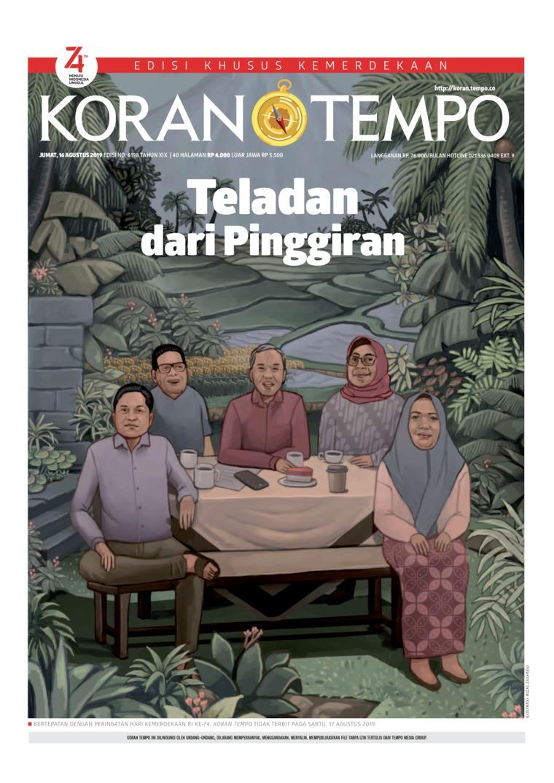 Koran TEMPO Digital Newspaper 16 August 2019