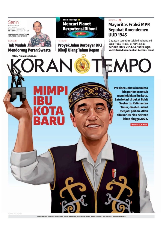 Koran TEMPO Digital Newspaper 19 August 2019