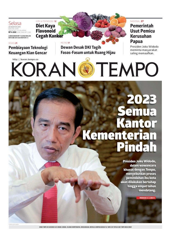 Koran Digital Koran TEMPO 20 Agustus 2019