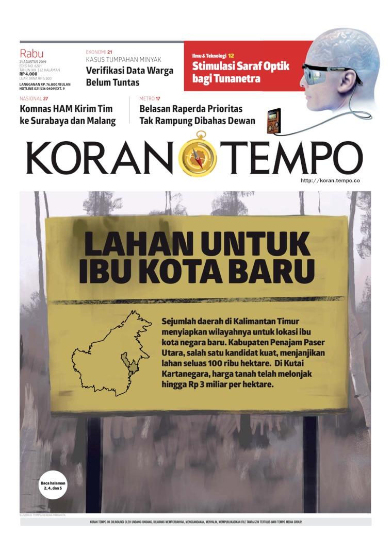 Koran Digital Koran TEMPO 21 Agustus 2019