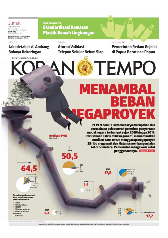 Koran TEMPO Digital Newspaper 23 August 2019