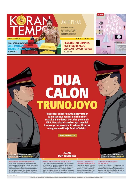 Koran TEMPO Digital Newspaper 24 August 2019
