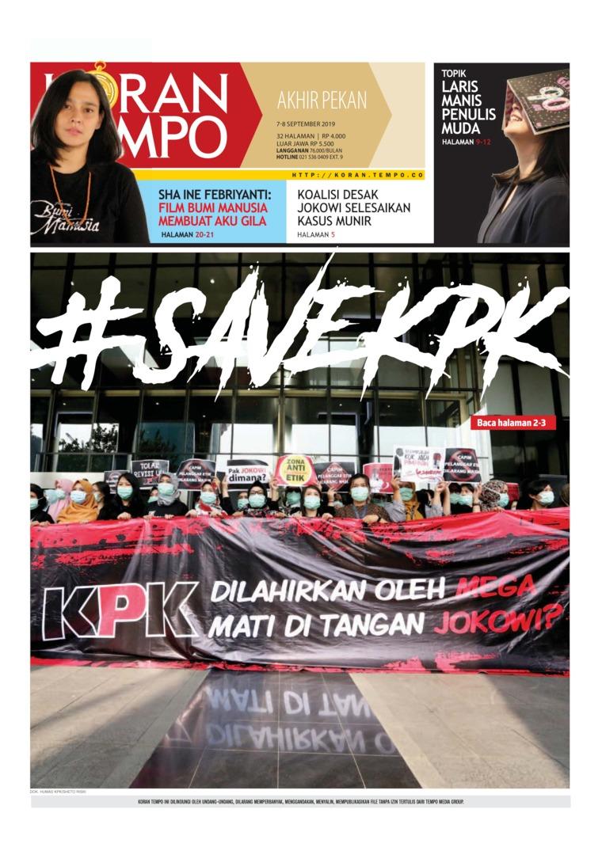 Koran TEMPO Digital Newspaper 07 September 2019