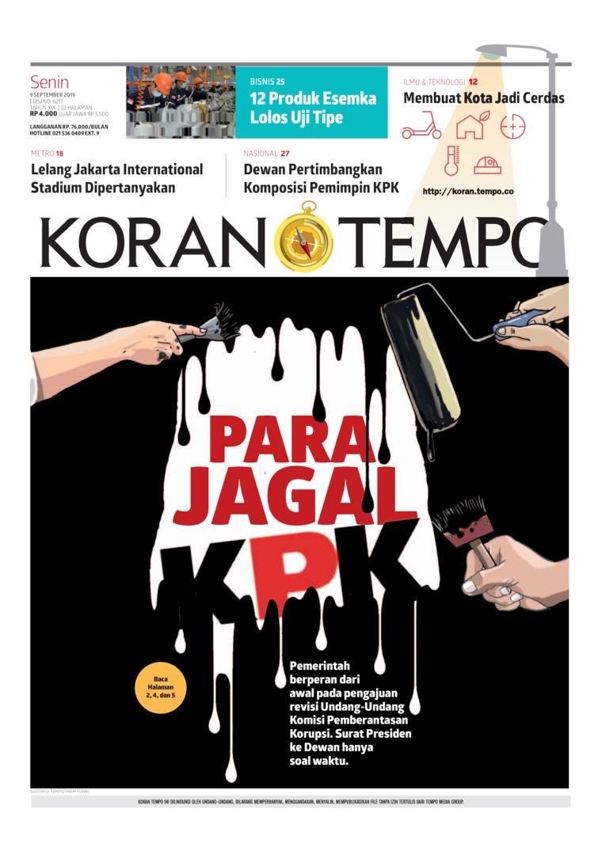 Koran TEMPO Digital Newspaper 09 September 2019