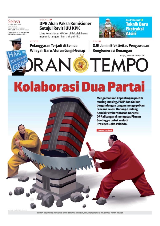 Koran TEMPO Digital Newspaper 10 September 2019