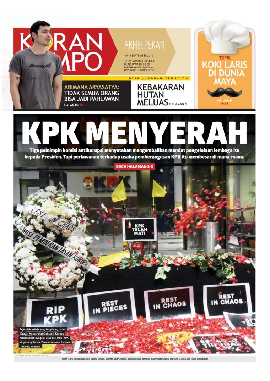 Koran Digital Koran TEMPO 14 September 2019