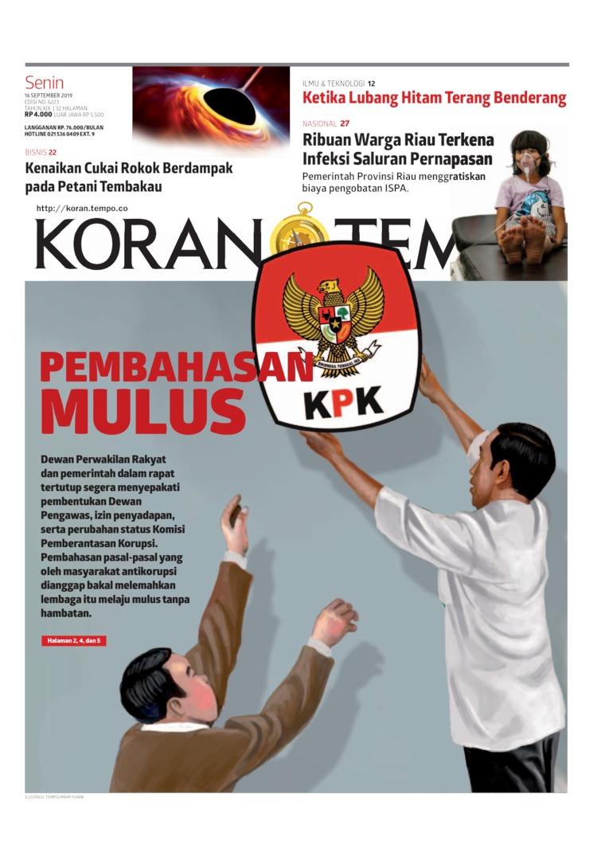 Koran Digital Koran TEMPO 16 September 2019