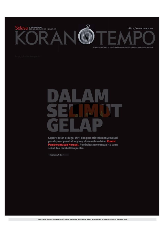 Koran Digital Koran TEMPO 17 September 2019