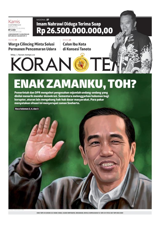 Koran TEMPO Digital Newspaper 19 September 2019