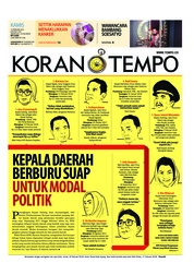 Cover Koran TEMPO 15 Februari 2018