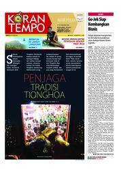 Cover Koran TEMPO 17 Februari 2018