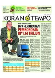 Cover Koran TEMPO 18 April 2018