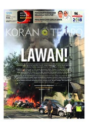 Cover Koran TEMPO 14 Mei 2018