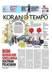 Cover Koran TEMPO 15 Mei 2018