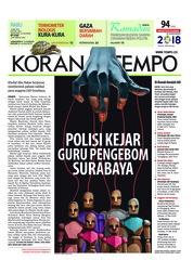 Cover Koran TEMPO 16 Mei 2018
