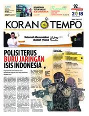 Cover Koran TEMPO 18 Mei 2018