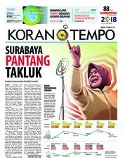 Cover Koran TEMPO 21 Mei 2018