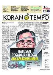 Cover Koran TEMPO 22 Mei 2018