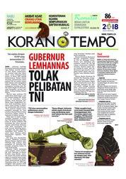 Cover Koran TEMPO 23 Mei 2018