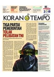 Cover Koran TEMPO 24 Mei 2018