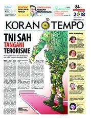 Cover Koran TEMPO 25 Mei 2018