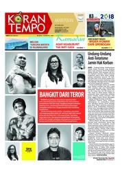 Cover Koran TEMPO 26 Mei 2018