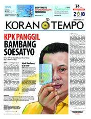 Cover Koran TEMPO 04 Juni 2018