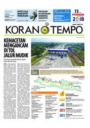 Cover Koran TEMPO 05 Juni 2018