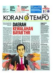Cover Koran TEMPO 06 Juni 2018
