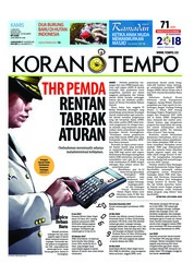 Cover Koran TEMPO 07 Juni 2018