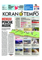 Cover Koran TEMPO 08 Juni 2018