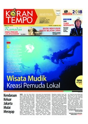 Cover Koran TEMPO 09 Juni 2018