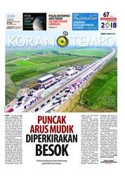 Cover Koran TEMPO 11 Juni 2018