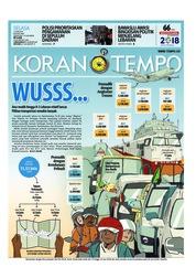Cover Koran TEMPO 12 Juni 2018