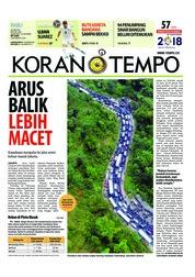 Cover Koran TEMPO 20 Juni 2018