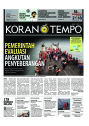 Cover Koran TEMPO 21 Juni 2018