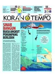 Cover Koran TEMPO 22 Juni 2018