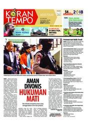 Cover Koran TEMPO 23 Juni 2018