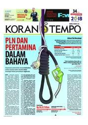 Cover Koran TEMPO 13 Juli 2018